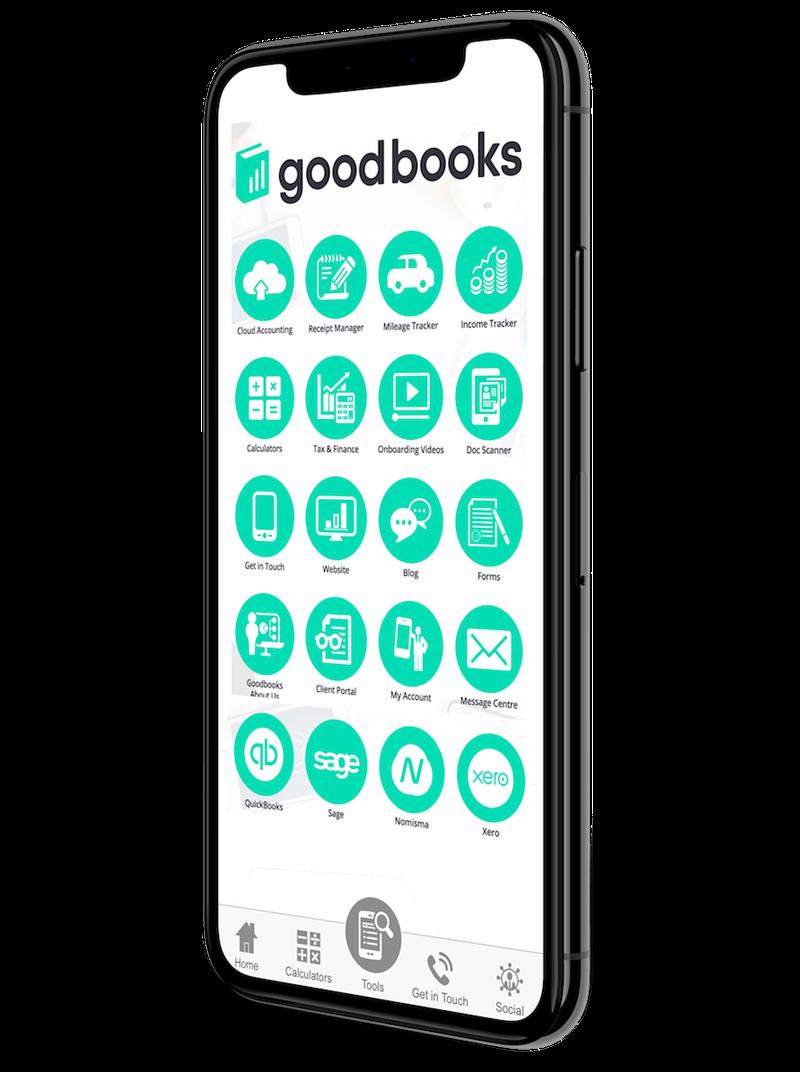Goodbooks Accountancy App on iPhone