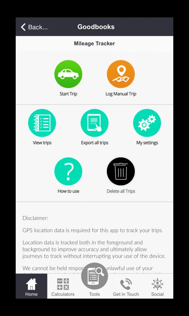 Goodbooks Accountancy App Screenshot